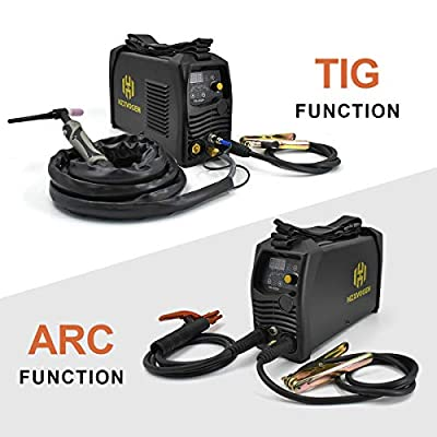 HZXVOGEN 110V/220V Tig Welder Pulse 200A Dual Voltage Arc D/C Stick MMA Inverter IGBT Digital Welding Machine - 60% Ducty Cycle High Frequency Digital Control