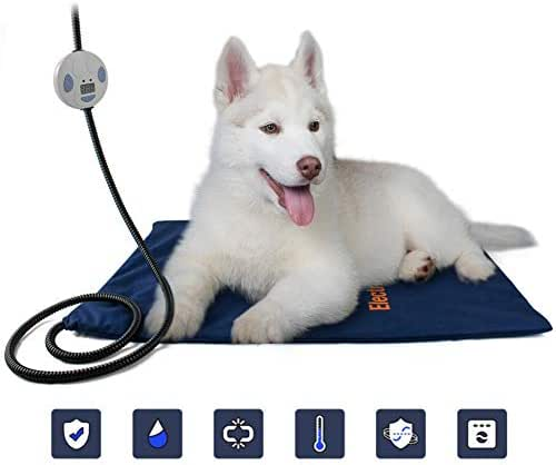 Sendk Pet Heating Bed Pad,Cats Rabbits Sleeping Mat,Pet Thermostat Heating Pad Waterproof Anti-Grab Bite Electric Blanket for Dogs Cats
