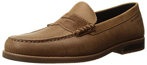 Rockport Men's Cayleb Penny Penny Loafer, Tobacco Leather, 8.5 M US -