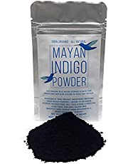 Genuine Mayan Indigo Powder from El Salvador - Raw, Fermented Blue Indigo - 100% Natural for Deep Blue Colors in Wool and Textiles - Net Weight: 0.7oz/20g