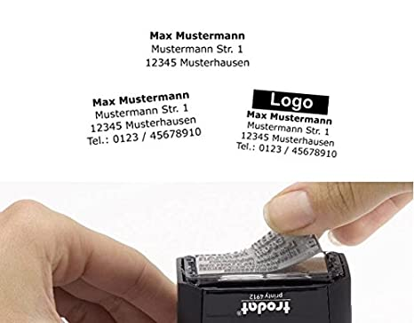 Stempelplatte Textplatte alle TRODAT Professional 5200 5203 5204 5205 5206 5207 5208 5211 Trodat Professional 5200 gr/ö/ße 41 x 24 mm