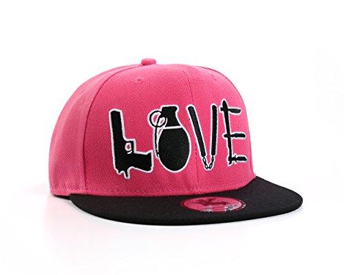 """Metro Kulture rosa """"violento amor"""" Snapback Gorra de béisbol"""