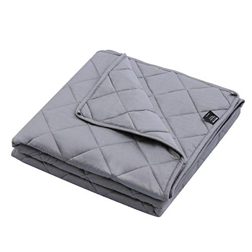 Cheap Weighted Blanket 28 lbs 86 x 92 inch for Couples or Individual Queen/King Size Bamboo Fabric Heavy Blanket Premium Microfiber and Glass Beads Fill Duvet Insert or Stand-Alone Comforter Black Friday & Cyber Monday 2019