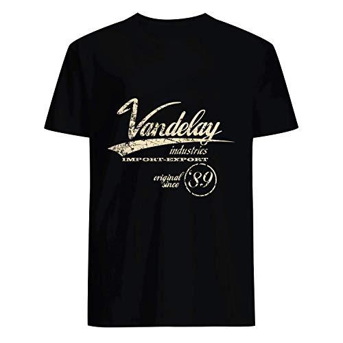 USA 80s TEE Vandelay Industries Import Export Original Shirt Black