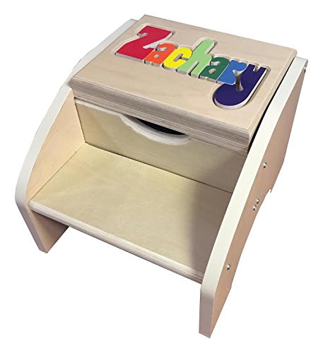 Personalized Primary Two Step Name Stool - Up to 12 Letters by aBaby.com