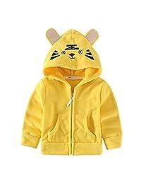 Kids Baby Unisex Fleece Animal Cartoon Hoodies Jackets Outwear