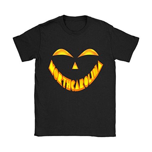 North Carolina Jack O' Lantern Pumpkin Face Halloween Costume Shirt - Women's Sized Tee, 3XL -