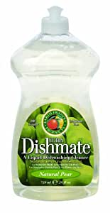 Earth Friendly Products Dishmate, Dishwashing Liquid, Natural Pear, 25-Ounce (Pack of 2)