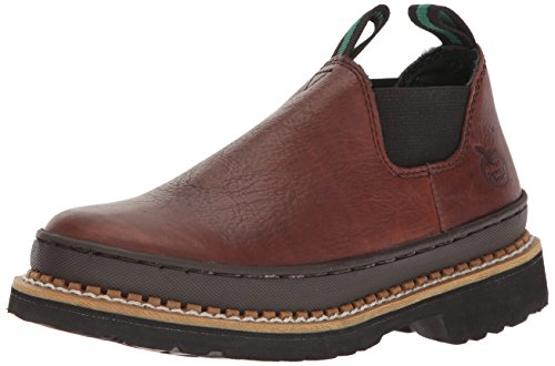 Georgia Boot Unisex-Kids GR74 Ankle Boot, Soggy Brown, 5.5 M US Big Kid (Georgia Boot Oxfords)