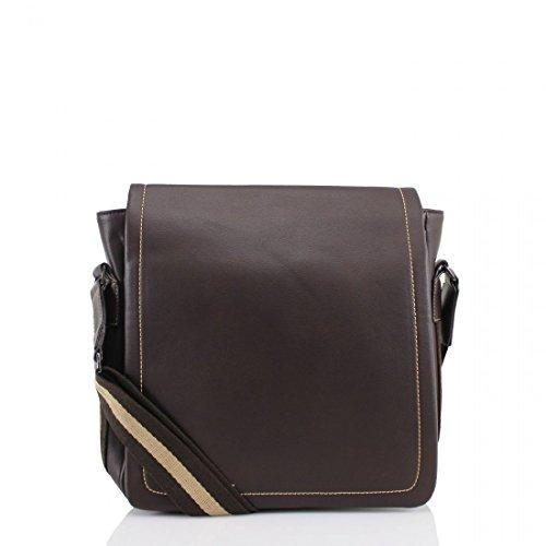 Messenger Bag–Bicicleta de trabajo Colegio Escuela Oficina Courier bolso bandolera marrón