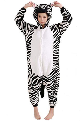 Adult Unisex Animal Cosplay Pajamas Onesies Costumes Zebra]()