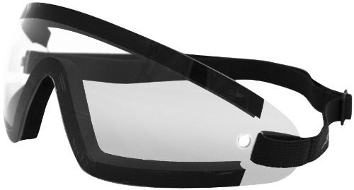 Bobster Wrap Around Goggles - One size fits most/Black w/ Clear