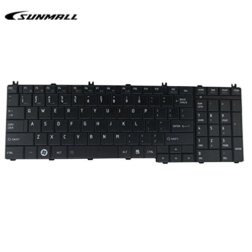 C655 Keyboard for Toshiba Satellite,SUNMALL Keyboard Replacement for Toshiba Satellite C655 I655 C755 I755 Series Laptop(6 Months Warranty)
