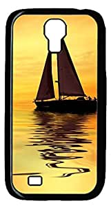 Brian114 Samsung Galaxy S4 Case, S4 Case - Black Hard PC Cases for Samsung Galaxy S4 I9500 Boat Ultra Fit for Samsung Galaxy S4 I9500