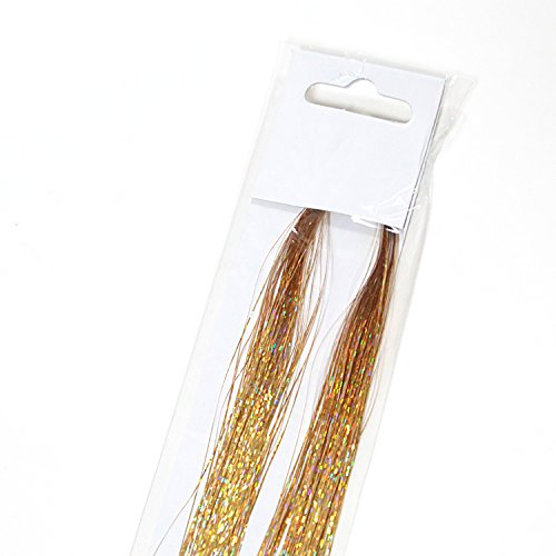 """Neitsi 35"""" Hair Tinsel 160 Strands Amazing Color Hair Extension (Sparkling Gold)"""
