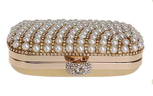 per moschettone imitazione He a modellato per matrimonio Borsettachiusura lusso Sera Perle nero di ragazze shop all'aperto XZTOiPku