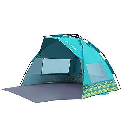Kingcamp® MISSISSIPI Fantasy Beach Shelter - UPF50+ Quick Sun Protection Beach Tent/ Shade/ Shelter