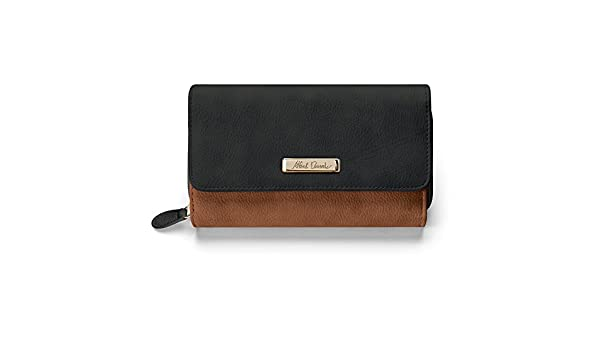 Alfred Durante Designer Womens Black And Brown Faux Leather Wallet by The Bradford Exchange at Amazon Womens Clothing store: