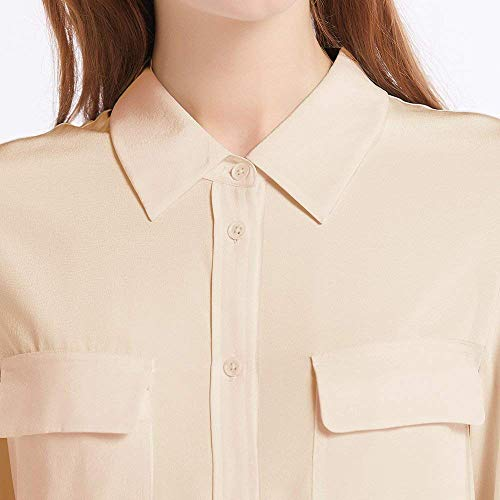 Casual Classique Sable Femme Soie Chemise LILYSILK Chic Blouse Naturelle 18 Momme t Top Chemisier Longues Dgrad Shirt Manches Chic fvRTfwqY