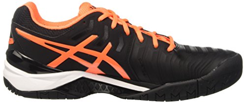 Shocking Resolution Orange Homme White Tennis de Gel Asics Black Chaussures Noir 7 zAH7wq