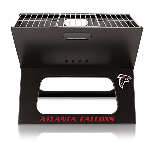 PICNIC TIME NFL Atlanta Falcons Portable Collapsible Charcoal X-Grill by PICNIC TIME