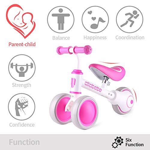 allobebe Baby Balance Bike, Cute Toddler Bikes 12-36 Months Gifts for 1 Year Old Girl Bike to Train Baby from Standing…