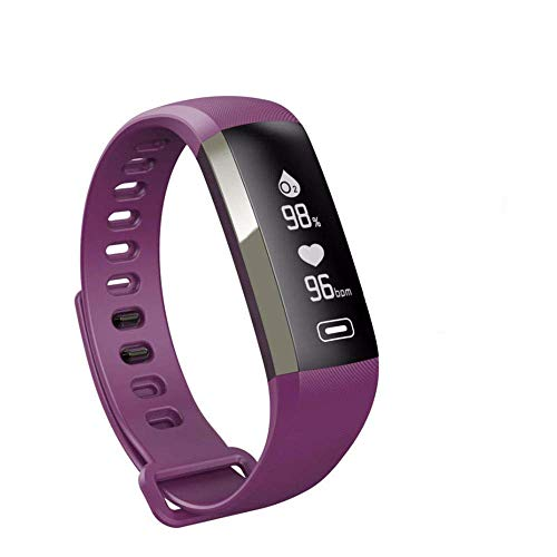 XFCS M2 Smart Wrist Band R5 PRO Heart Rate Blood Pressure Oxygen Oximeter Sport Bracelet Watch Intelligent for iOS Android-Purple