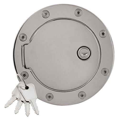 Bully GD-303CKP Chrome Plated Billet Aluminum Fuel Door with Lock