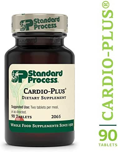Standard Process - Cardio-Plus - Cardiovascular Supplement, Vitamin C, E, and B6, Riboflavin, Niacin, Selenium, Antioxidants, Supports Heart Health and Muscle Function - 90 Tablets