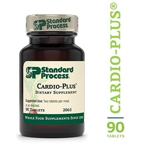 Standard Process - Cardio-Plus - Cardiovascular Supplement, Vitamin C, E, and B6, Riboflavin, Niacin, Selenium, Antioxidants, Supports Heart Health and Muscle Function - 90 Tablets ()