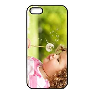 Girl Dandelion iPhone 5 5s Cell Phone Case Black Phone cover J9712908