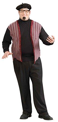 Forum Novelties Men's Plus-Size 60's Revolution Beatnik Dude Costume, Multi, Plus