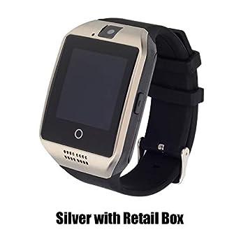ZGYYDY Bluetooth Smartwatch Relogio Pasómetro Relojes Hombres Mujeres Reloj Inteligente Soporte TF Tarjeta de Cámara Sim para Android TeléfonoPlata con ...