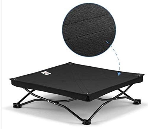Pet Bed Trampoline Sofa-Style Quilted Bed Mattress Frame Elevated Cooling Cot,Deluxe Mesh Fabric Top Puppy Napper Sleeping Camping Cot Canvas for Pet Dogs & Cats.
