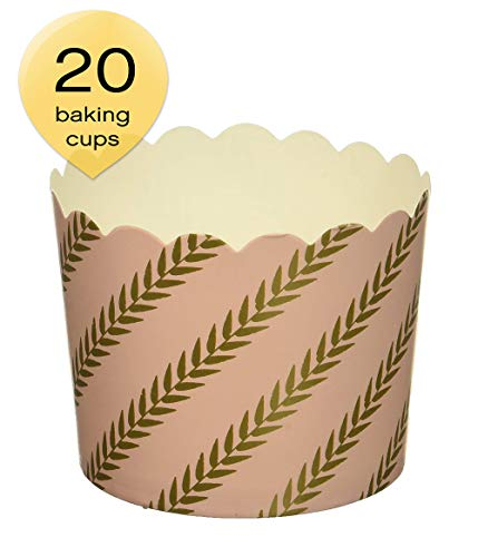 Simply Baked CLG-140 Disposable and Oven-Safe Baking Cups, Large, Pink Gold -