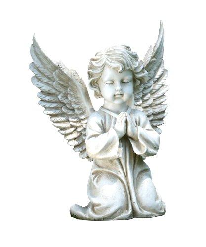 Napco Kneeling Angel Garden Statue, 15-Inch Tall - Kneeling Garden Statue