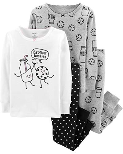Carter's Baby Girls' 4 Pc Cotton (5T, Bedtime Besties) ()