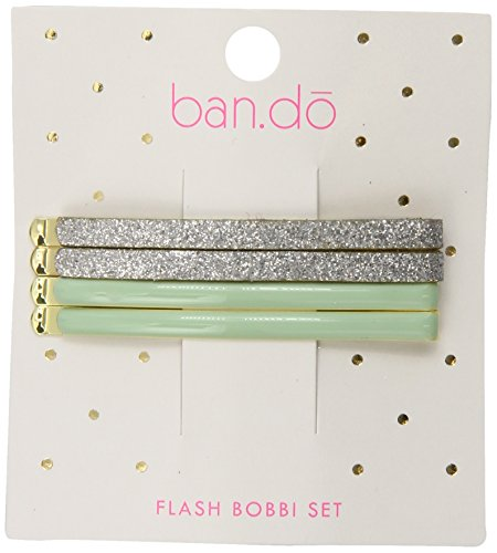 Ban.do Flash Bobbi Set, Silver Glitter Mint, 4 - Add Ban