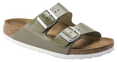 Cushioned Leather Insole - Birkenstock Arizona Classic Women's Sandal 42 N EU Khaki