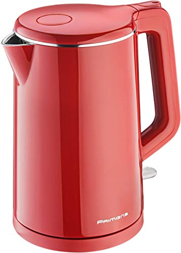 Premium Cordless Hot Water Electric Tea Kettle – Automatic Shut Off – Double Wall Cool Touch – Water Heater Boiler, Fast Boil – Portable Kettle – British Strix Сontroller