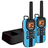 Uniden GMR4055-2CK Black Edition GMRS/FRS Two-Way Radio With Extra Long Battery Life, Emergency Strobe Light, NOAA Alert, Water Resistent, and Battery Strength Meter – BLACK & BLUE