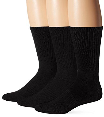 's Soft Extreme Core Crews, Black, Sock Size:10-13/Shoe Size: 6-12 ()