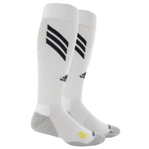 adidas Men's F-50 Soccer Sock, White/Black/Vivid Yellow, Medium