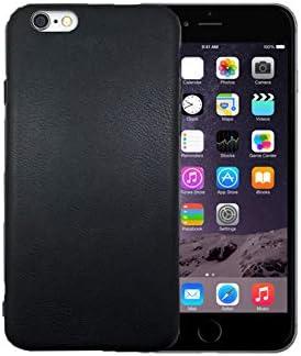 FD MOVILES Funda Carcasa para Móvil iPhone (6/6S) Protectora TPU Bumper Silicona con Cuero