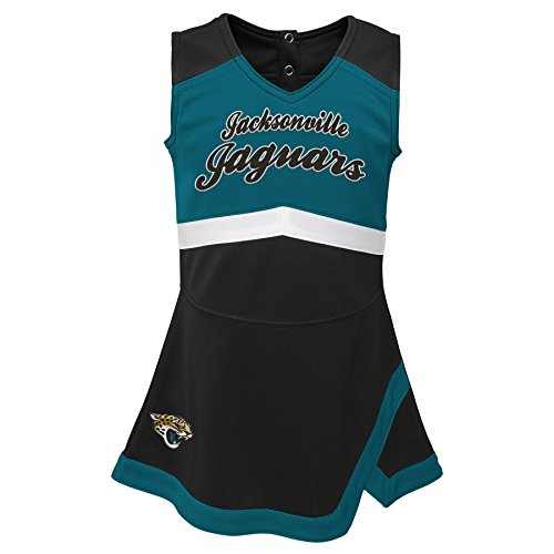 Outerstuff NFL NFL Jacksonville Jaguars Kids & Youth Girls Cheer Captain Jumper Dress Black, Kids Medium(5-6)