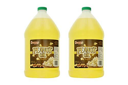 Snappy Popcorn 1 Gallon Snappy Pure Peanut Oil No Color Added, 128 Fl Oz (2 Pack)