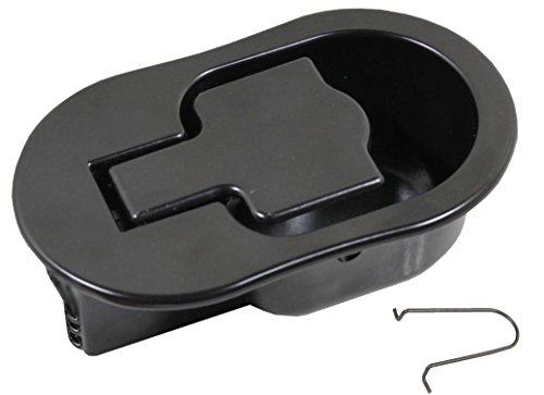 (Reliable Recliner Replacement Parts ★ HANDLE COMES WITH CABLE HOOK ★ Sturdy Large Oval Black Solid Aluminum Metal Pull Recliner Handle 4-3/8