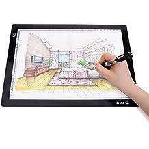 Portable A4 LED Light Pad LED Light Box Tracer USB Powered Artist Drawing Pad LED Light Tracing Pad 9x12 Inch Light Pad for Artists,Drawing, Sketching, Animation