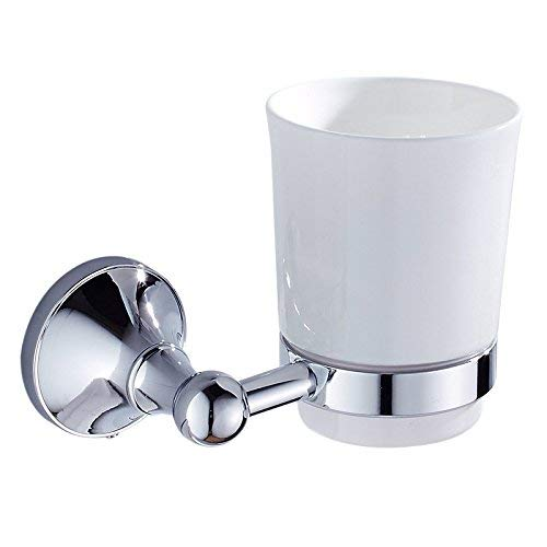 WLJ-YSYP Home Bathroom and Bathroom Essential Simple Bathroom Hardware Pendant Single Cup Holder Plating Chrome-Plated Cup Storage Rack can be Shipped Waterproof and Moisture Proof