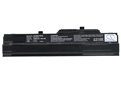 Replacement Battery for MSI 9S7-N01152-439, Wind 90, Wind MS-N011 Part NO 14L-MS6837D1, 3715A-MS6837D1, 6317A-RTL8187SE ()